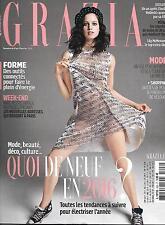 GRAZIA N°326 8 JANVIER 2016  MCMENAMY/ QUOI DE NEUF EN 2016/ WOLINSKI/ SALETTE