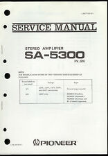Original Factory Pioneer SA-5300 FV GN Stereo Amplifier Service Manual