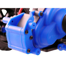 RPM Traxxas Slash Rustler Rear Bumper & Wheelie Bar Mount (Blue) RPM80905