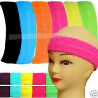 80s Fancy Dress 1980s Retro Headband 2 x Wristbands Sweatbands Neon Fancy Dress