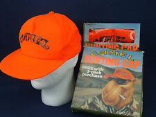 Vintage 90's Joe CAMEL Orange HUNTING, BASEBALL CAP. NEW in BOX. Made in U.S.A.