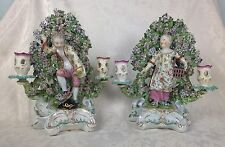18thC Pair Duesbury Derby Figural Candlesticks Liberty & Matrimony Children 1765