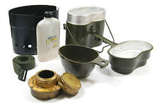 BIG SET SWEDISH MILITARY ARMY FUEL STOVE TRANGIA - MESS KIT BURNER CUP CANTEEN