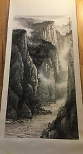 Chinese Scroll Painting Gorges