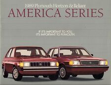 Plymouth Horizon & Reliant America 1989 USA Market Sales Brochure