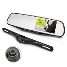 Pyle Car Rear View Backup Camera and Mirror Monitor with Dual Front Facing Dash