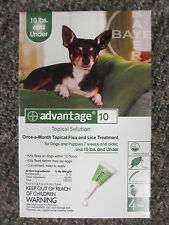 Advantage Green (4-Pack) for Small Dogs 0-10 lbs * FREE SHIPPING *