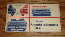 Original 1967 American Motors AMC Rambler Marlin Owners Operators Manual 67