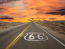 Aux etats-unis route 66 poster will rogers highway mother road A4 260GSM