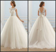 2015 Elegant white / ivory wedding dress bride wedding dress custom size +++++++