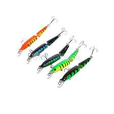 Set of 5 Colored Jointed Hard Fishing Lures Bait Crank Fish Lure Hook Spoon