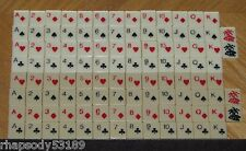 1983 GINNYKUB 108 plastic tiles playing card suit vintage game parts lot crafts