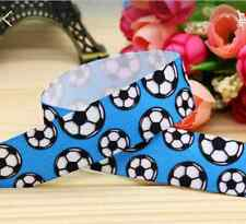 "1M 22mm 7/8"" FOOTBALL GROSGRAIN RIBBON CAKE CRAFT GIFTS DECORATION BOY PARTY"