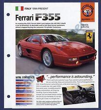 Ferrari F355 IMP Brochure Specs 1994-Present Group 1, No 17