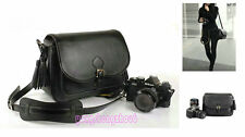 PU Leather 34-1 Camera Bag Case For Nikon CANON SONY FUJI PENTAX OLYMPUS SAMSUNG