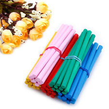 50x 80mm Round Bamboo Lolly Food Lollipop Sticks DIY Pole HandCrafts Five Color