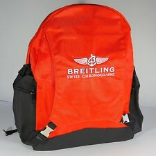 Breitling Luxury Orange And Black Backpack Bag Very Rare 2017