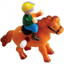 Clockwork Table Top Wind Up Racing Horse Race Horses Fun Desktop Stocking Filler