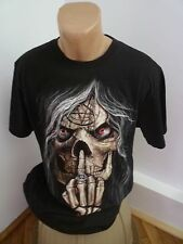 Skull Stegol Men XXL T-shirt Red Eye long hair
