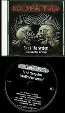 The Exploited Fuck The System (Sanitized For Airplay) PROMO CD
