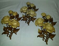 SYROCO Vintage Roses Wall Plaque Art 1972 - #A-4460 Wood tone Finsh Flowers