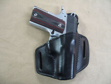 Para Ordnance Warthog 1911 Leather 2 Slot Molded Pancake Belt Holster Black