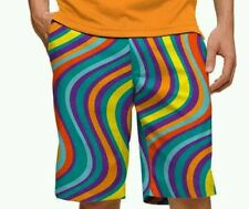 LOUDMOUTH Torrey Lines Multicolor Swirl Golf Shorts Men's 32