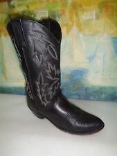 Old West Womens Leather Black Western Boots Size 6