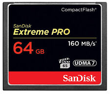 Sandisk 64gb Extreme Pro Compact Flash Card 160mb/s UDMA 7