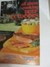 """Dr Pepper """"All About Cooking Beef Outdoors"""" Cookbooklet - NEW  DATED 1977"""