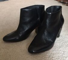 Rachel Comey Black Patent Leather Ankle Boots Shoes Booties Size 9 Anthropologie