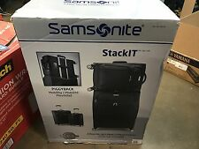"Samsonite stackit 2 Piece Softside Set Luggage 25"" & 20"" BLACK"