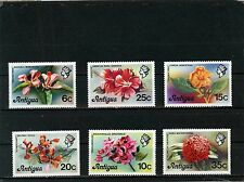 ANTIGUA 1976 Sc#411-416 FLORA FLOWERS SET OF 6 STAMPS MNH