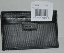 Coach Heritage Leather Card Case Mens  #F74814  CHARCOAL Color  NWT $68