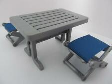 Playmobil Dollshouse/Adventure/Camping: Picnic table & 2 folding chairs NEW