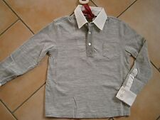 (174) RARE -The Kid Boys langarm Polo Shirt mit Brusttasche & Logo Druck gr.176