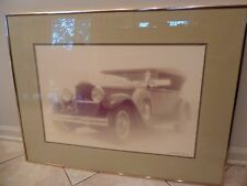 """RARE~1929 Packard Framed Picture Signed By William Plante~24"""" x 16"""""""