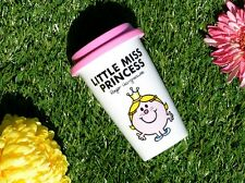 MR MEN Little Miss Princess DOUBLE WALLED PORCELAIN Take Away TRAVEL MUG