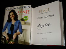 Nigella Lawson signed Feast 3rd printing hardcover book Food to Celebrate Life