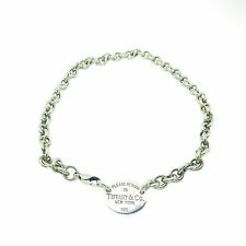 TIFFANY & CO. Return To Oval Tag Sterling Silver Link Necklace