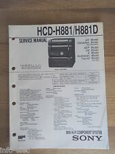 Schema SONY - Service Manual Mini Hifi Component System HCD-H881 HCD-H881D