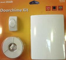 DESA Heath Zenith Full Door Bell Chime Kit Push button Bell Wire & Chime