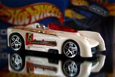 2002 Hot Wheels Planet Hot Wheels.com Electrical energy car Monoposto white