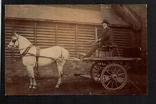 Huddersfield - Whitworth Brothers, Seed Hill,  Horse & Cart  -  RP postcard