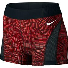 NIKE PRO dri fit SHORTS SIZE 10 12 MEDIUM red black PRINT TIDAL HYPERCOOL 3''