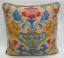 Zoffany Fabric Cushion Cover 'Pompadour' Ochre 100% Cotton - Classic Prints Col