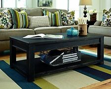Timber Coffee Table Reclaimed Wood Rustic Distressed Barn Slab Natural Black