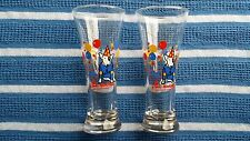 BUDWEISER SPUDS MCKENZIE THE ORIGINAL PARTY ANIMAL BEER GLASSES SET OF TWO