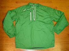 New Mens L Sunice X20 Golf Running Water Repellent Pullover Large 1/4 Zip Green