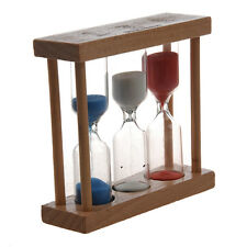 3 in 1 Sand Timer 1+3+5 Minute - Natural Wood AD